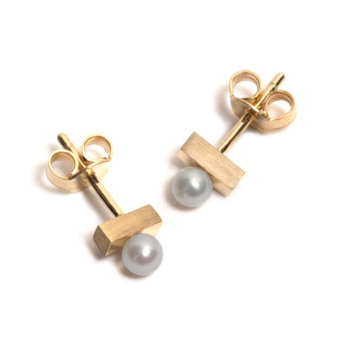 Petite Pearl Post Earrings by Kieran Jackson