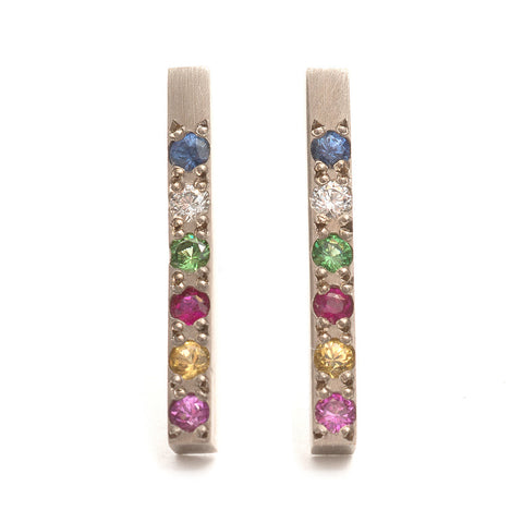 Rainbow Bar Earrings by Kieran Jackson