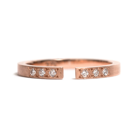 Rose Gold Split Ring by Kieran Jackson