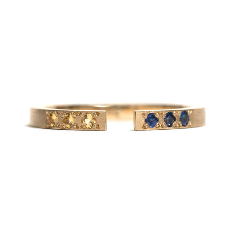 Yellow Gold Split Ring by Kieran Jackson