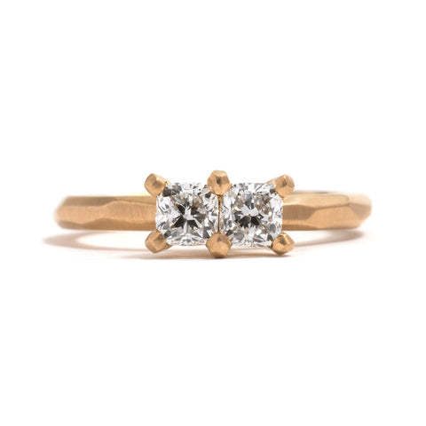 Cushion Cut Diamond Soul Mates Ring