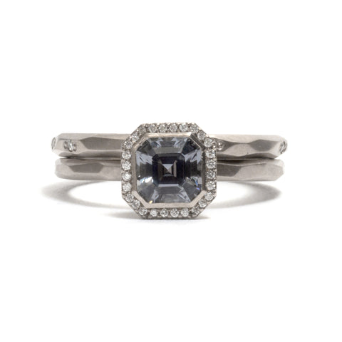 Halo Bezel Spinel Ring