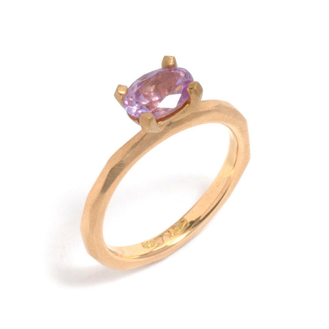 Pink Sapphire Soul Ring