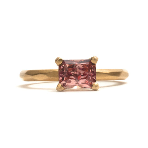 Radiant Copper Sapphire Soul Ring by Krista McRae