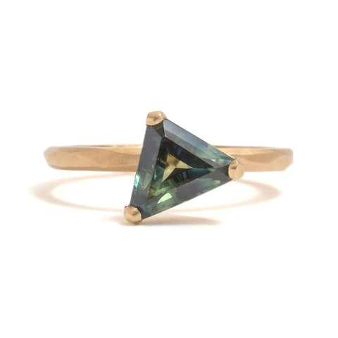 Trilliant Sapphire Ring by Krista McRae