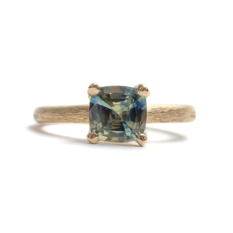 Stone Love Cushion Cut Sapphire Ring by Karla Way