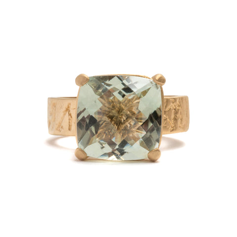 Gorilla Skin Green Amethyst Ring by Lisa Roet