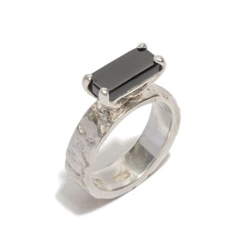 Gorilla Skin Onyx Ring by Lisa Roet