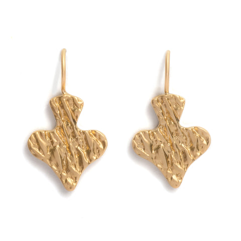 Ace of Spades Gold Earrings by Lisa Roet