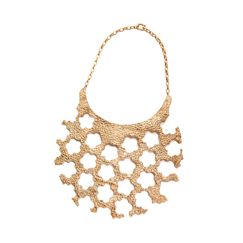 Golden Collar Neckpiece by Lisa Roet