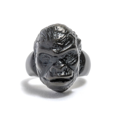 Gorilla Head (Black) Ring by Lisa Roet