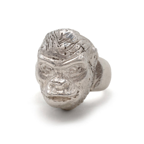 Gorilla Head Ring