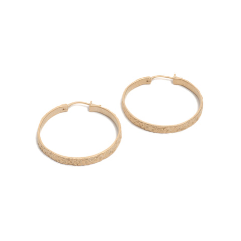 Gorilla Skin (Gold) Hoops by Lisa Roet