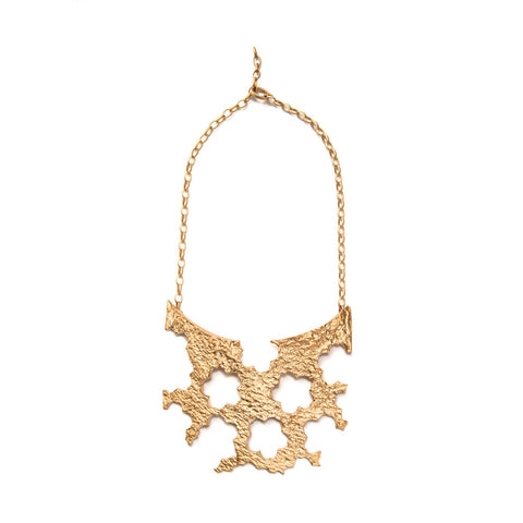 Guns and Roses Golden Neckpiece by Lisa Roet