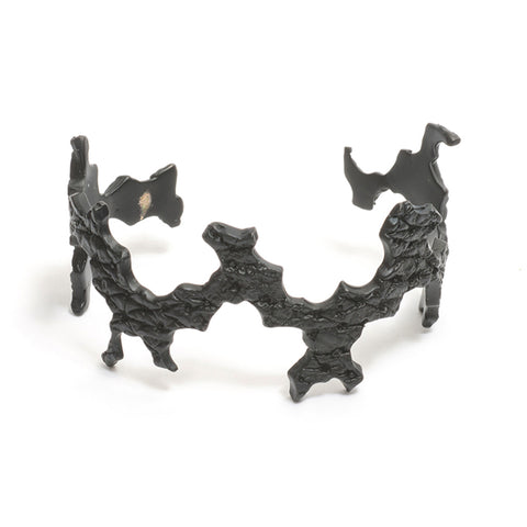 Orangutan Crown of Thorns Black Cuff Bracelet