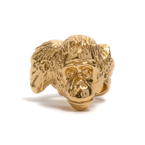 Orangutan Head (Gold) Ring by Lisa Roet