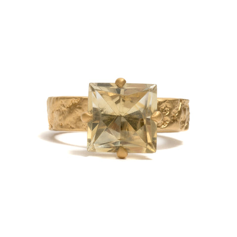 Orangutan Skin Citrine Ring by Lisa Roet