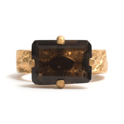 Smokey Quartz Orangutan Skin Ring by Lisa Roet