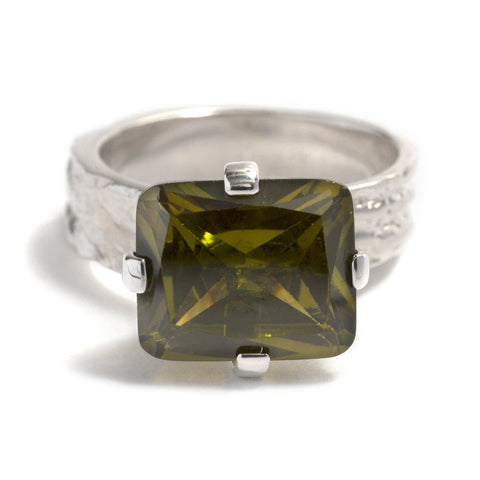 Peridot Gorilla Skin Ring by Lisa Roet