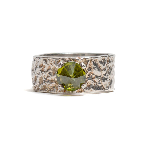 Gorilla Skin With Peridot Ring by Lisa Roet