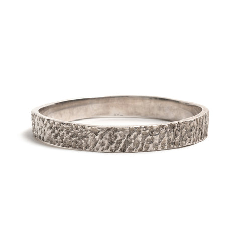 Silver Gorilla Skin Bangle