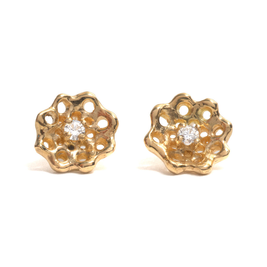 Cusp Diamond Earrings