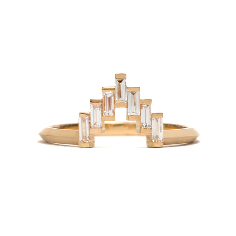 Baguette Diamond Skyline Ring