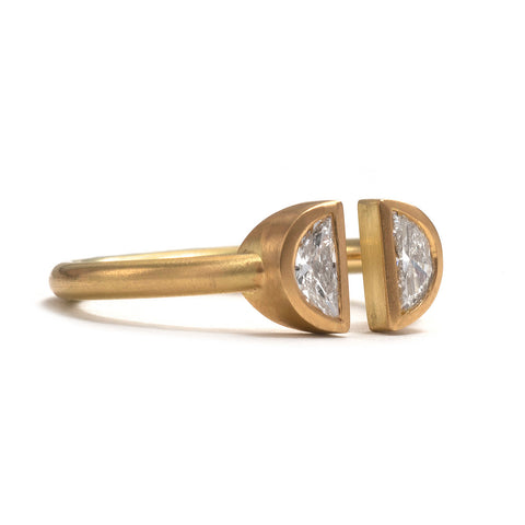 Double Half Moon Ring