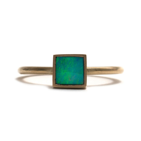 Golden Opal Element Stacking Ring