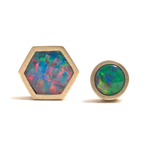 Golden Opal Element Single Stud Earrings by Melanie Katsalidis