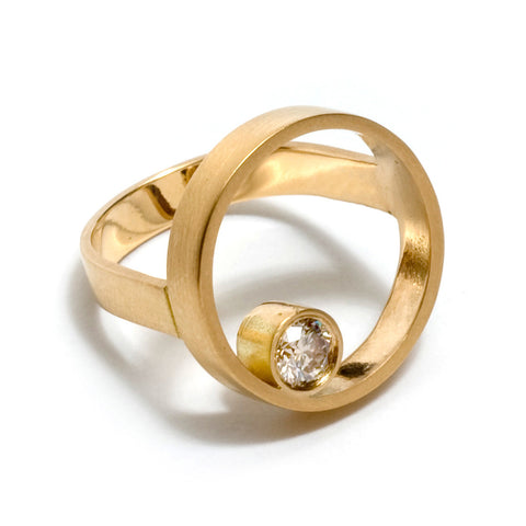 Nesting Double Circle Ring