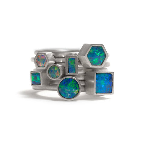 Opal Element Stacking Ring by Melanie Katsalidis
