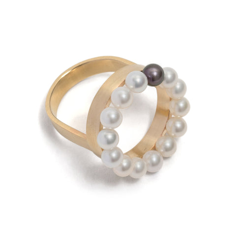 Pearl Circle Ring