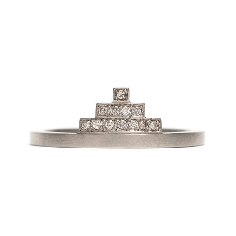Pyramid Diamond Ring