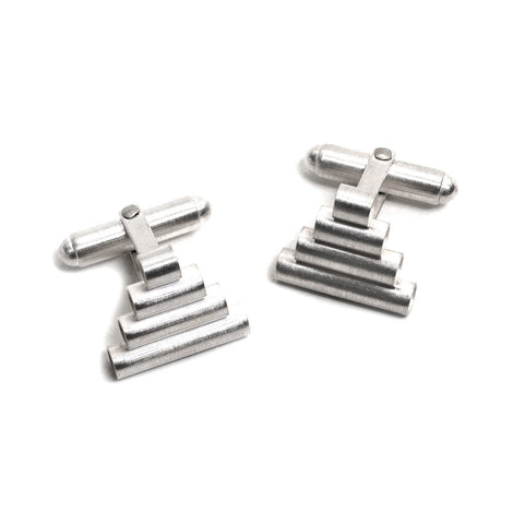 Pyramid Stack Cufflinks by Melanie Katsalidis