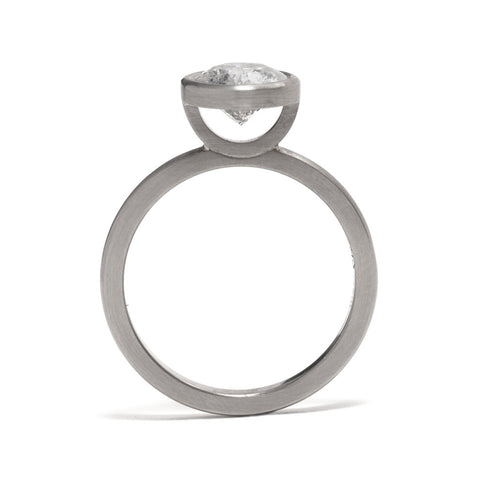 Salt and Pepper Diamond Elevate Ring