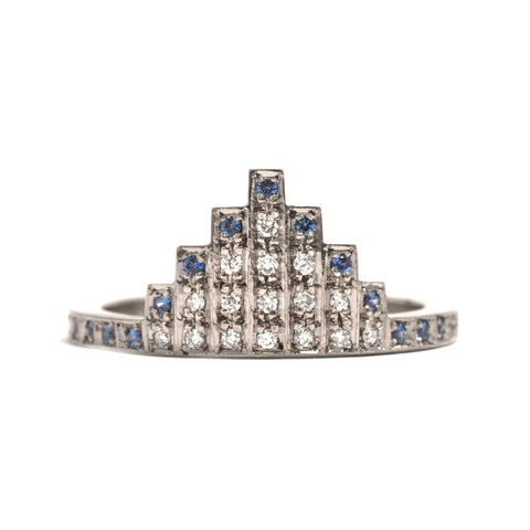 Skyline Sapphire and Diamond Ring