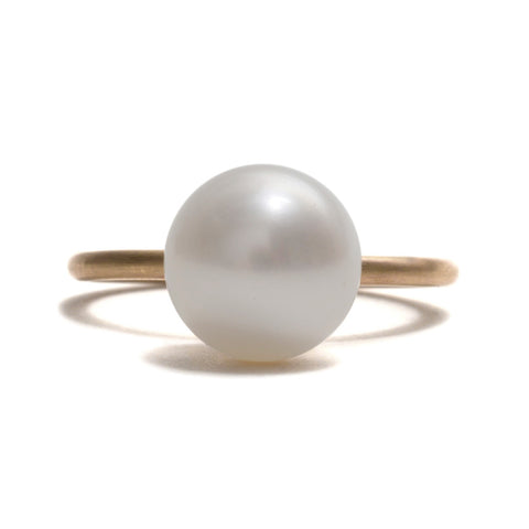 White Pearl Stacking Ring