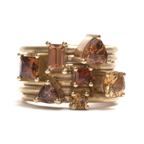 Zircon Element Stacking Ring by Melanie Katsalidis