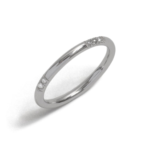 White Gold Immersion Ring