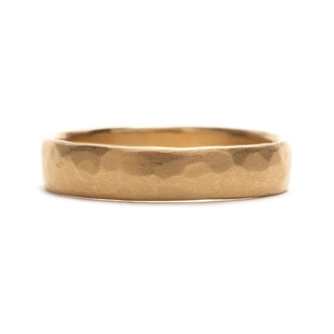 Hammered Wedding Ring by Natalia Milosz-Piekarska