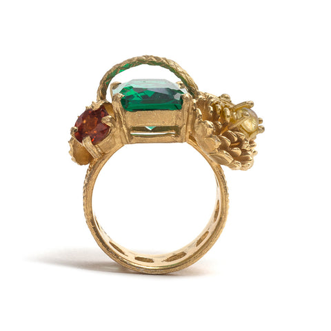 Emerald Fan Ring