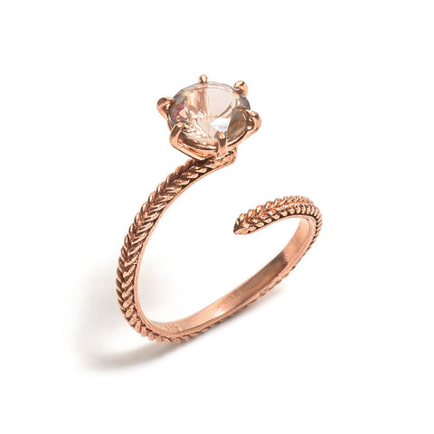 Snake & Jewel Ring