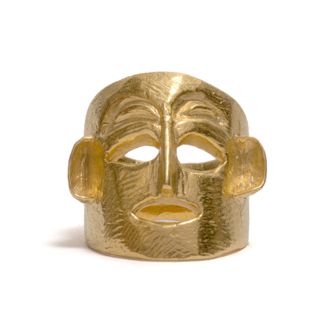 Golden Mask Ring