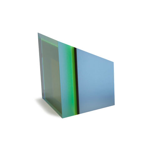 Acrylic Prism Perspex Blue Green by Phillip Low