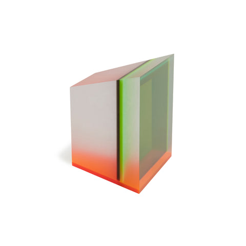 Acrylic Prism Perspex Green Orange by Phillip Low