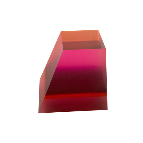 Acrylic Prism Perspex Orange Pink by Phillip Low