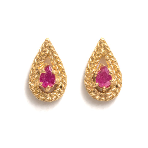 Fiery Stud Earrings