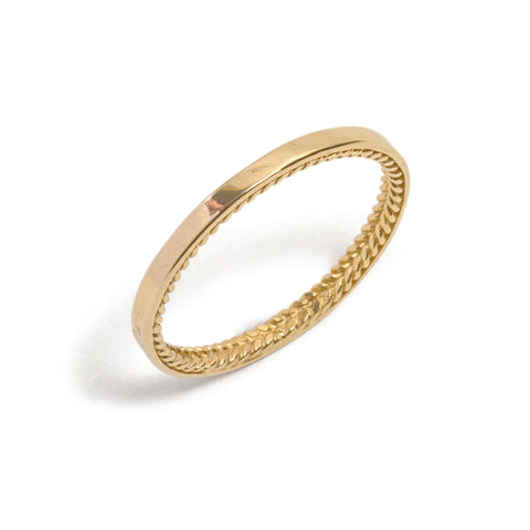 Rope Men's Wedding Ring by Nina Oikawa
