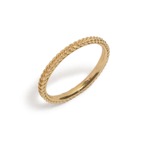 Rope Wedding Ring by Nina Oikawa
